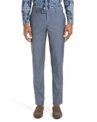 The Kooples | Blue After The Rain Wool Tab Waist Pants for Men | Lyst