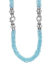 Lagos - Blue Caviar Icon Bead Convertible Bracelet & Necklace - Lyst