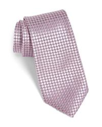 Calibrate - Pink Artesia Check Silk Tie for Men - Lyst