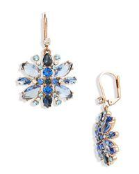 Kate Spade | Blue Snowy Nights Drop Earrings | Lyst