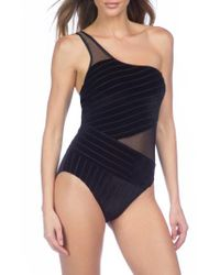 Kenneth Cole - Black Sultry One-piece Swimsuit - Lyst