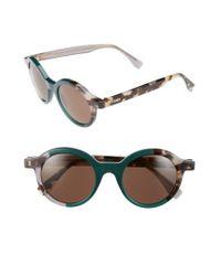 Fendi - Green 48mm Sunglasses - Lyst