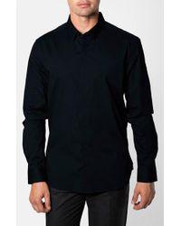 7 Diamonds | Black 'peace Train' Trim Fit Woven Shirt for Men | Lyst