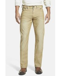 True Religion | Natural 'ricky' Relaxed Straight Leg Corduroy Pants for Men | Lyst