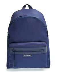 Longchamp | Blue 'le Pliage Neo' Nylon Backpack | Lyst