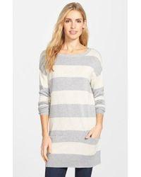 Caslon | Gray Caslon Two-pocket Knit Tunic | Lyst