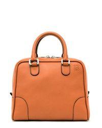 Loewe | Brown 'amazona 75' Leather Satchel | Lyst