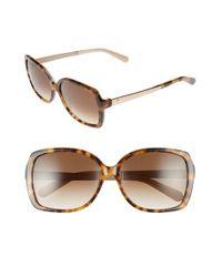 kate spade new york   Brown 'darrilyn' 58mm Butterfly Sunglasses   Lyst