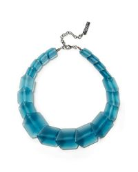 Lafayette 148 New York - Blue 'clear Link Bead' Gradient Cube Necklace - Oceana - Lyst