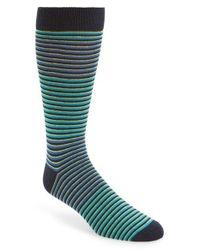 Ted Baker Green Stripe Socks for men