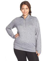 Nike | Gray 'element' Dri-fit Half Zip Running Top | Lyst