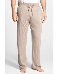 Daniel Buchler Silk Amp Cotton Lounge Pants In Brown For Men