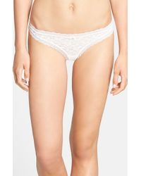 Free People | White Intimately Fp Dream Thong | Lyst