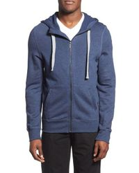2xist | Blue 'terry' Cotton Blend Zip Hoodie for Men | Lyst