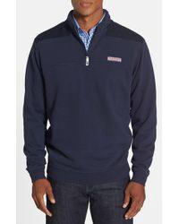 Vineyard Vines | Blue 'shep' Quarter Zip Pullover Sweatshirt for Men | Lyst