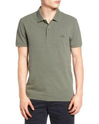 Lacoste - Green Slub Pique Polo for Men - Lyst