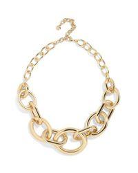 BaubleBar - Metallic Mardie Linked Statement Necklace - Lyst