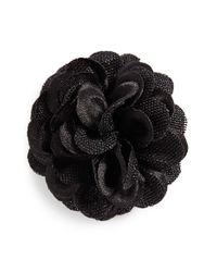 Hook + Albert   Black Lapel Flower   Lyst