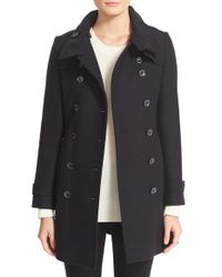 Burberry Brit - Black Daylesmoore Wool-Blend Trench Coat - Lyst