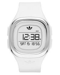Adidas - White Denver Digital Silicone Strap Watch for Men - Lyst