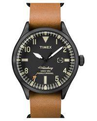 Timex - Brown Timex 'waterbury' Leather Strap Watch for Men - Lyst