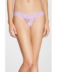 Hanky Panky | Pink Low Rise Cross Dye Thong | Lyst