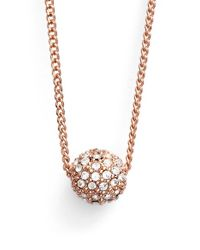Givenchy | Pink 'fireball' Bead Pendant Necklace | Lyst
