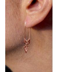 Adornia Multicolor Diamond Heart Safety Pin Earrings