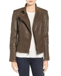 Vince Camuto | Multicolor Asymmetrical Leather Moto Jacket | Lyst