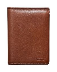 Tumi | Brown 'chambers' Leather L-fold Wallet for Men | Lyst