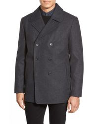 Vince Camuto | Gray Classic Peacoat for Men | Lyst