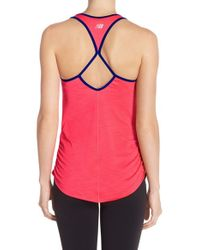 New Balance | Blue Ruched Tank | Lyst