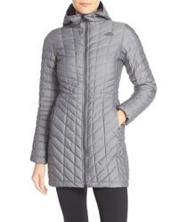 The North Face   Gray Thermoball(tm) Primaloft Hooded Parka   Lyst