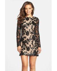 Dress the Population Black Grace A-line Dress