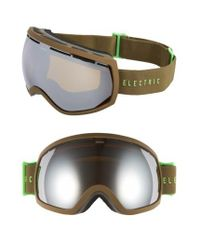 Electric - Green Eg2 225mm Snow Goggles - Olive/ Bronze/ Silver Chrome - Lyst