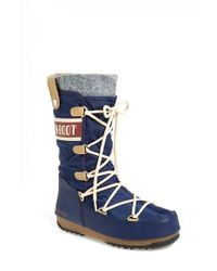 Tecnica | Blue Monaco Water-Resistant Moon Boots  | Lyst