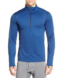 Patagonia Blue 'capilene Midweight' Base Layer Half Zip T-shirt for men