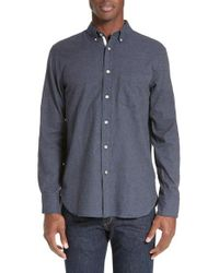 Rag & Bone Blue Standard Issue Trim Fit Sport Shirt for men