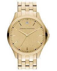 Armani Exchange | Metallic Diamond Marker Bracelet Watch for Men | Lyst