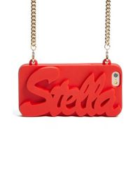 Stella McCartney Red 'stella' Iphone 6 & 6s Crossbody Chain Case