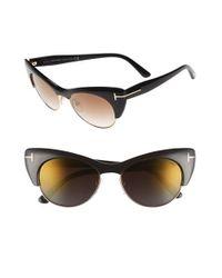 Tom Ford - Black 'lola' 54mm Sunglasses - Lyst