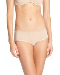Natori | Natural 'bliss' Girl Shorts | Lyst