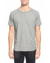 Steven Alan | Gray Jersey Raglan Crewneck T-shirt for Men | Lyst