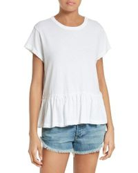 The Great | White The Ruffle Tee | Lyst