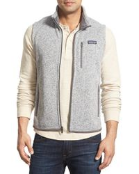Patagonia | Gray 'better Sweater' Zip Front Vest for Men | Lyst
