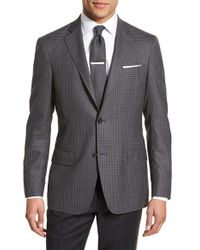 John W. Nordstrom - Black Classic Fit Check Wool Sport Coat for Men - Lyst