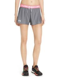 Under Armour | Gray 'play Up' Track Shorts | Lyst