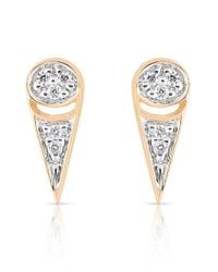 Ginette NY | Metallic 'mrs. Joe' Diamond Stud Earrings | Lyst