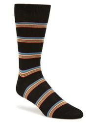 Paul Smith | Black 'albermarle' Stripe Socks for Men | Lyst