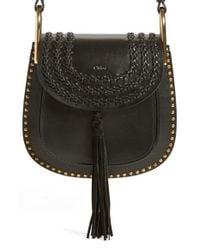 Chloé Black Hudson Small Studded Leather Shoulder Bag